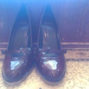 Dark brown high heels. Never worn.